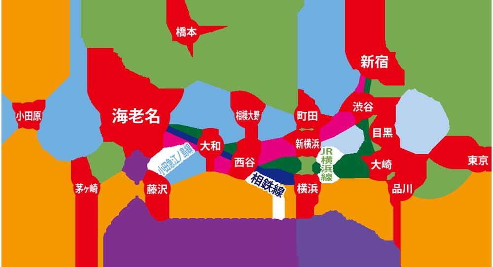 ベル歯科医院への鉄道・空港バス路線図